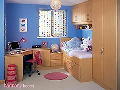Harmony Beech fitted bedroom