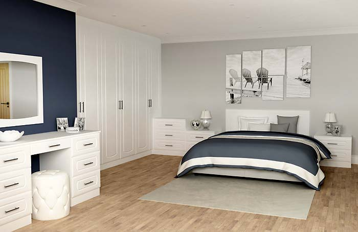 Chester White Oak Fitted Bedroom