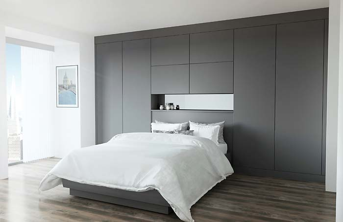 Glacier Super Matt Graphite Fitted Bedroom