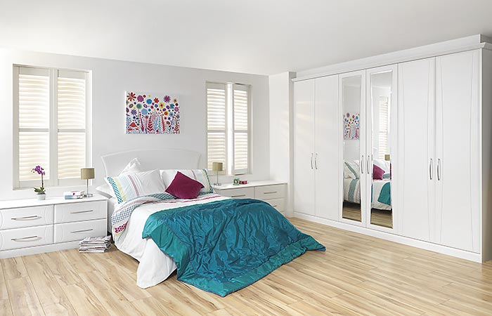 Eclipse White Text Fitted Bedroom